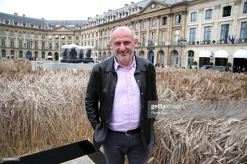 Artist <a gi-track='captionPersonalityLinkClicked' href=/galleries/search?phrase=Gad+Weil&family=editorial&specificpeople=7010146 ng-click='$event.stopPropagation()'>Gad Weil</a> poses in front of his instalation at Place Vendome on July 1, 2016 in Paris, France.