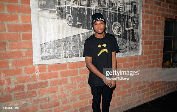B artist Gallant attends a listening party for his new album 'Ology' on April 5 2016 in Los Angeles California