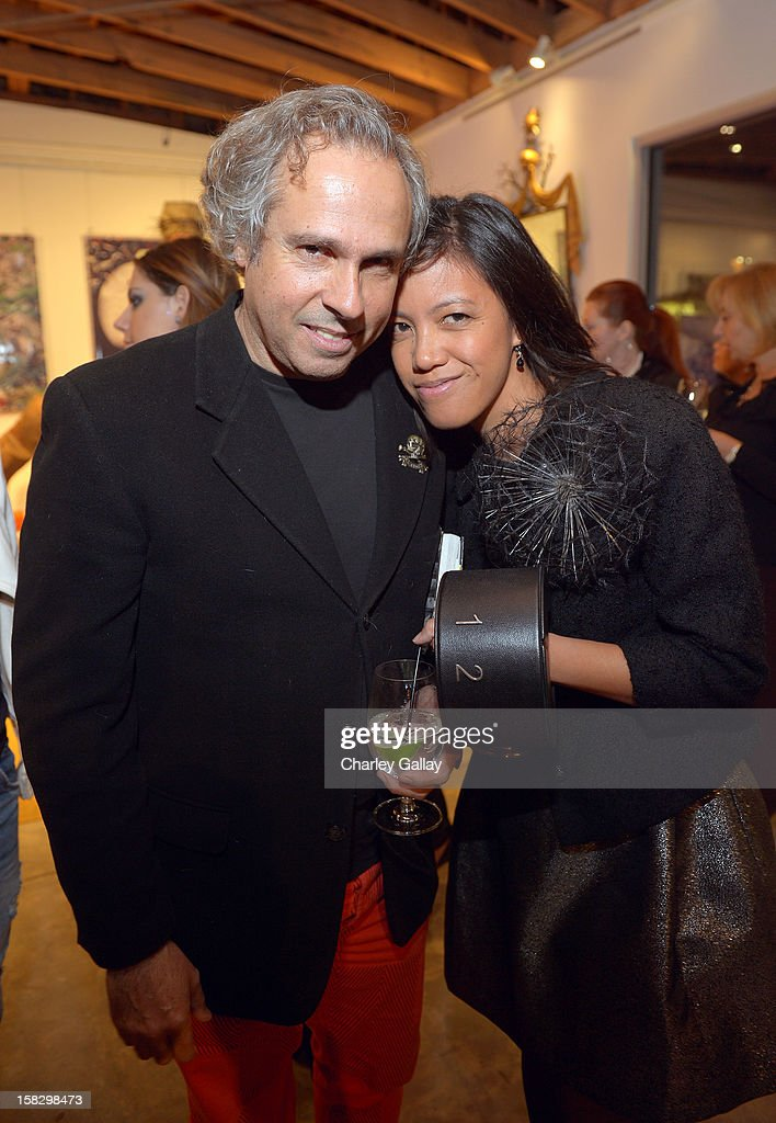 Artist Gary Baseman (L) and Denise Gray attend High Fashion/2013 MOE Aliona Kononova Collection, brought to you by the all-new Lincoln MKZ, hosted by Joel Chen and Lyn Winter at C Project on December 12, 2012 in Los Angeles, California.