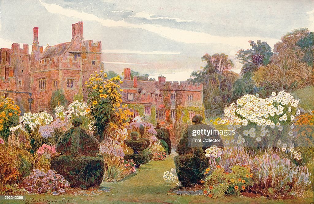 Artist George Samuel Elgood 'Penshurst Kent' 1903 Penshurst Place is a historic building near Tonbridge Kent It is the ancestral home of the Sidney...