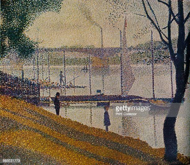 Artist GeorgesPierre Seurat 'Le Pont de Courbevoie' 1886 From The Studio Volume 117 [The Offices of the Studio London New York 1939]