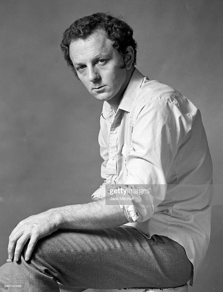 Artist Gerard Laing photographed in October 1969.