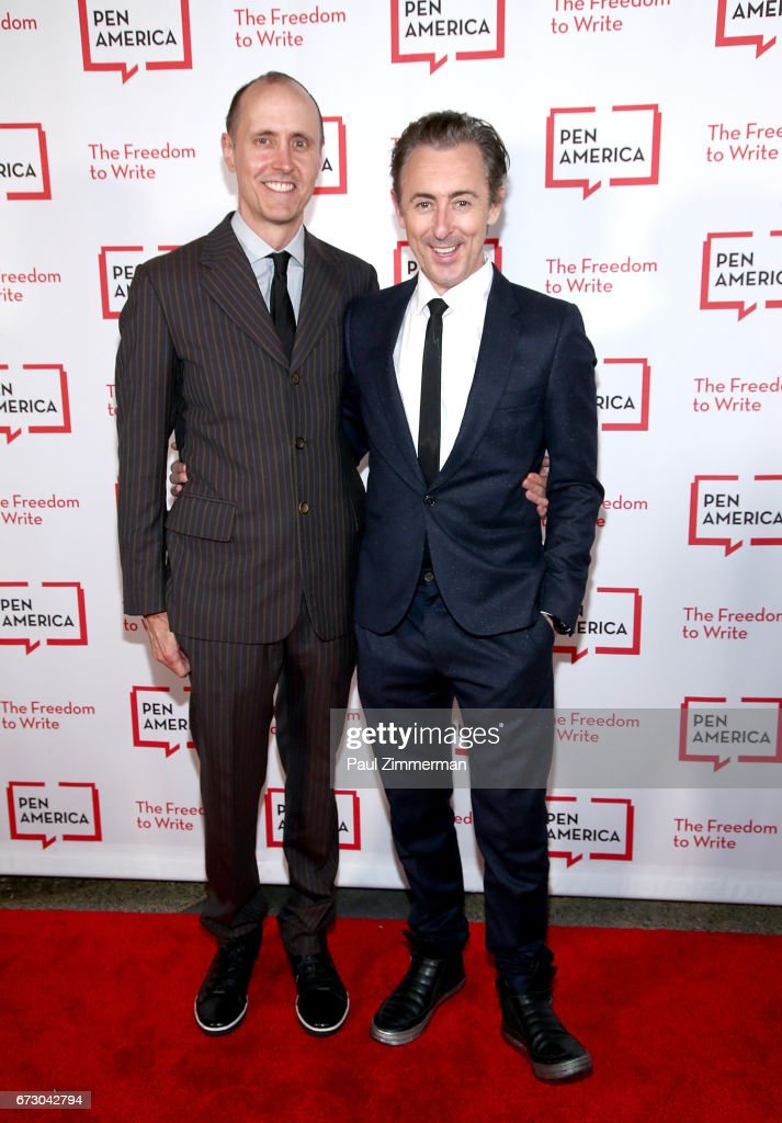 Artist Grant Shaffer (L) and actor Alan Cumming attend PEN America's 2017 Literary Gala Red Carpet at American Museum of Natural History on April 25, 2017 in New York City.