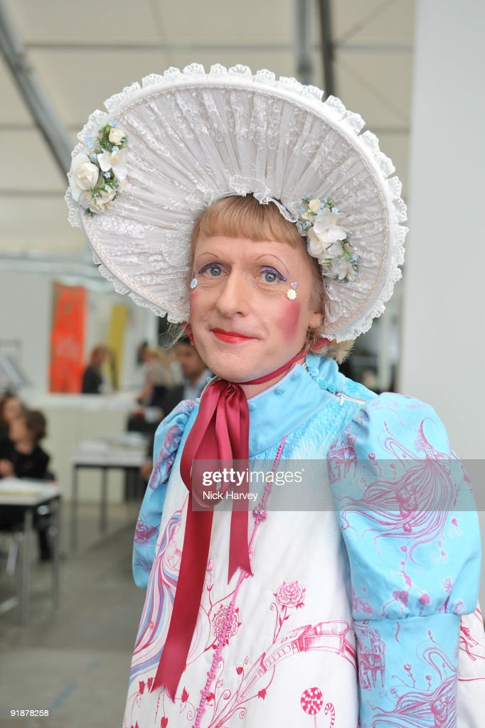 Artist Grayson Perry attends the Frieze Art Fair private view at Regent's Park on October 14 2009 in London England