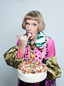 Artist Grayson Perry is photographed for the Observer on January 17 2011 in London England