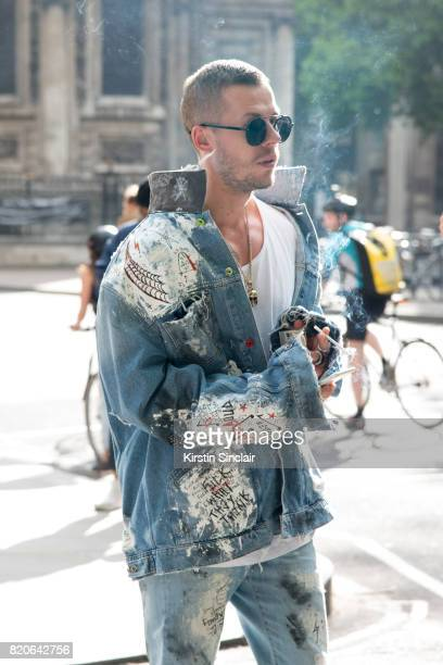 Artist Gregory Emvy on day 1 of London Collections Men on June 9 2017 in Paris France