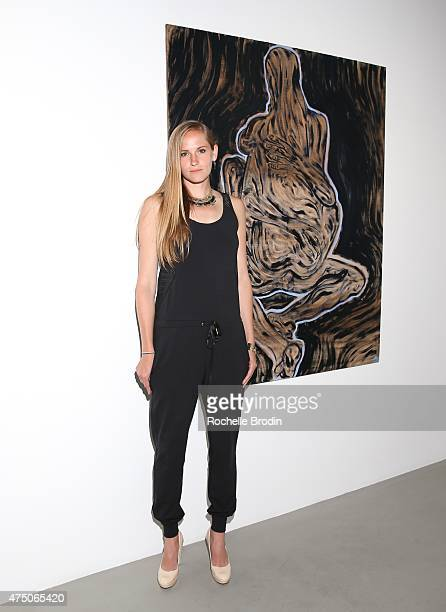Artist Gretchen Andrew attends the 'Blue Nudes' exhibition at De Re Gallery on May 28 2015 in West Hollywood California
