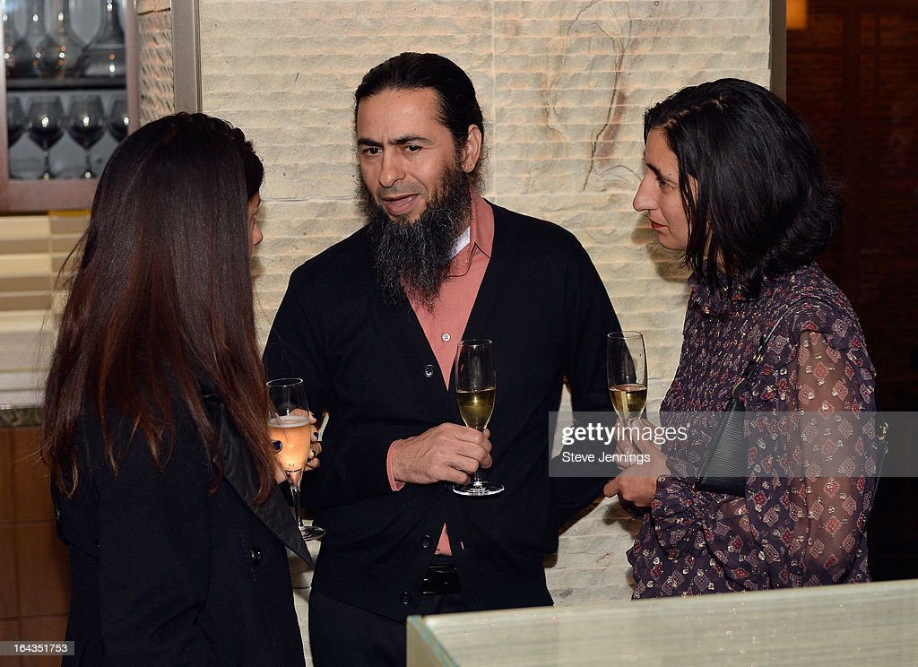 Artist Hadi Tabatabai (C) attends the WHOLE WORLD Water launch event at Parallel 37 at The Ritz-Carlton, San Francisco on March 22, 2013 in San Francisco, California.