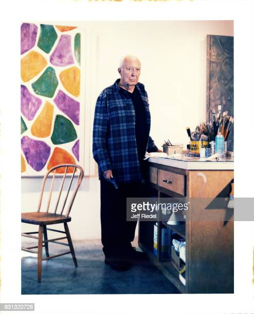 Artist Jasper Johns is photographed for New York Magazine in 2005 in his studio in Connecticut