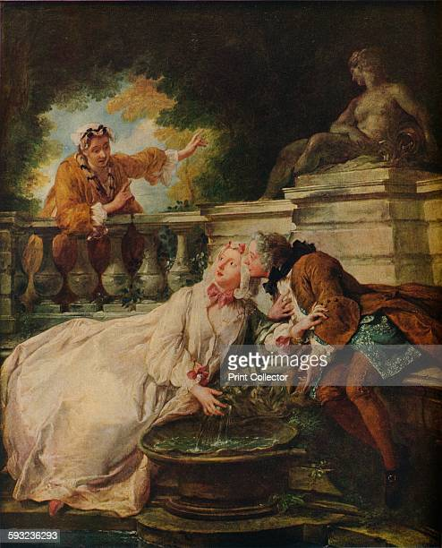 Artist Jean Francois de Troy 'The Alarm La Gouvernante Fidee' 1723 Painting held at the Victoria And Albert Museum London From The Connoisseur Volume...