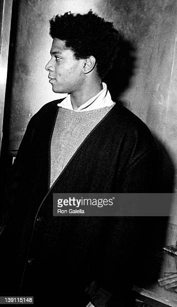 Artist JeanMichel Basquiat attends 'Gifts for the City of New York' Benefit on November 7 1984 at Area Nightclub in New York City