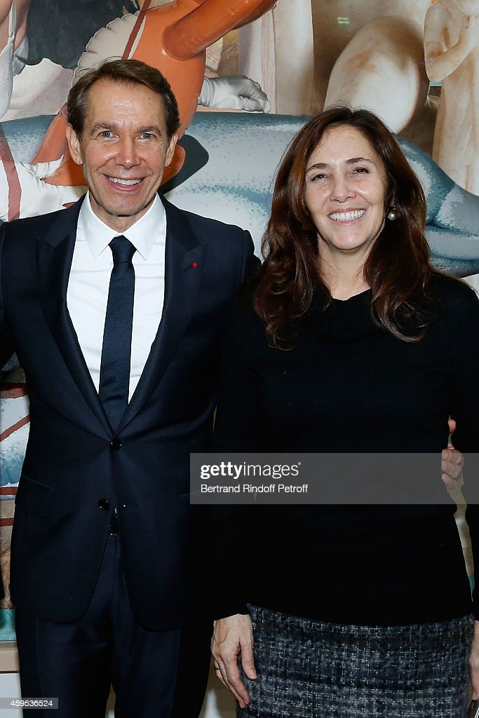 Artist <a gi-track='captionPersonalityLinkClicked' href=/galleries/search?phrase=Jeff+Koons&family=editorial&specificpeople=220233 ng-click='$event.stopPropagation()'>Jeff Koons</a> and daughter of President of Cuba Raul Castro, Niece of Fidel Castro and activist for gay rights in Cuba, <a gi-track='captionPersonalityLinkClicked' href=/galleries/search?phrase=Mariela+Castro&family=editorial&specificpeople=4348590 ng-click='$event.stopPropagation()'>Mariela Castro</a> attend the '<a gi-track='captionPersonalityLinkClicked' href=/galleries/search?phrase=Jeff+Koons&family=editorial&specificpeople=220233 ng-click='$event.stopPropagation()'>Jeff Koons</a>' Retrospective Exhibition : Opening Evening at Beaubourg on November 24, 2014 in Paris, France.