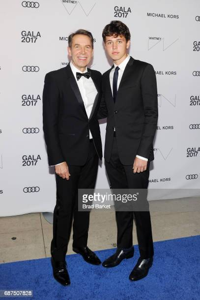 Artist Jeff Koons and Sean Kyah Koons attend the Whitney Museum's annual Spring Gala and Studio Party 2017 sponsored by Audi and Michael Kors on May...