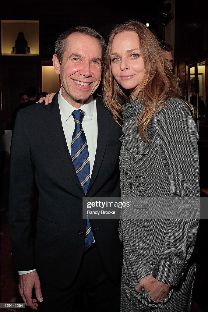 Artist Jeff Koons and Stella McCartney attend the Stella McCartney Autumn 2013 Presentation at 680 Park Avenue on January 8, 2013 in New York City.
