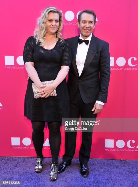 Artist Jeff Koons arrives at the MOCA Gala 2017 at The Geffen Contemporary at MOCA on April 29 2017 in Los Angeles California