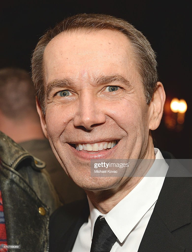 Artist <a gi-track='captionPersonalityLinkClicked' href=/galleries/search?phrase=Jeff+Koons&family=editorial&specificpeople=220233 ng-click='$event.stopPropagation()'>Jeff Koons</a> attends the Dom Perignon Reception after The Un-Private Collection: <a gi-track='captionPersonalityLinkClicked' href=/galleries/search?phrase=Jeff+Koons&family=editorial&specificpeople=220233 ng-click='$event.stopPropagation()'>Jeff Koons</a> and John Waters in Conversation at Orpheum Theatre on February 24, 2014 in Los Angeles, California.
