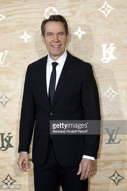 Artist Jeff Koons attends the 'LVxKOONS' exhibition at Musee du Louvre on April 11 2017 in Paris France