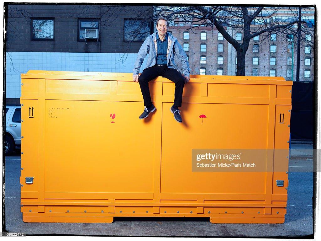 Jeff Koons, Paris Match Issue 3419, December 3, 2014