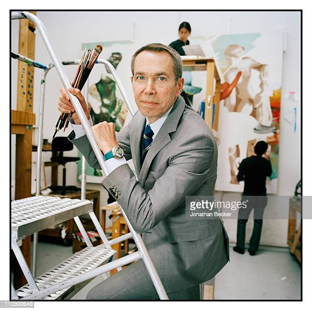 Artist Jeff Koons is photographed in his studio for Vanity Fair Magazine on June 8 2010 in New York City