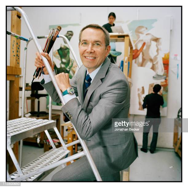 Artist Jeff Koons is photographed in his studio for Vanity Fair Magazine on June 8 2010 in New York City