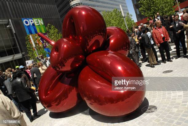Artist Jeff Koons' sculpture 'Flowery Balloon' during Opening Of 7 World Trade Center May 23 2006 at Lower Manhattan in New York City New York