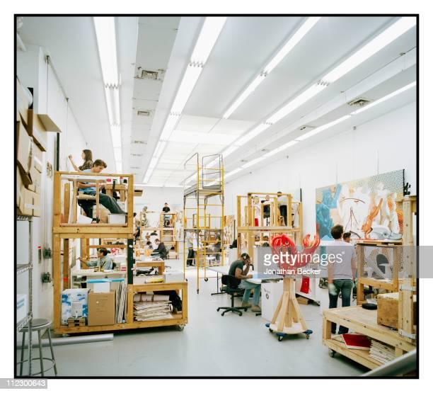 Artist Jeff Koons studio is photographed for Vanity Fair Magazine on June 8 2010 in New York City
