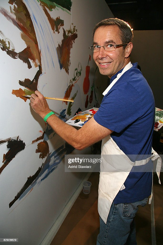 Artist Jeffrey Koons attends the Kids for Kids celebrity carnival benefiting the Elizabeth Glaser Pediatric AIDS Foundation at the Park Avenue Armory...