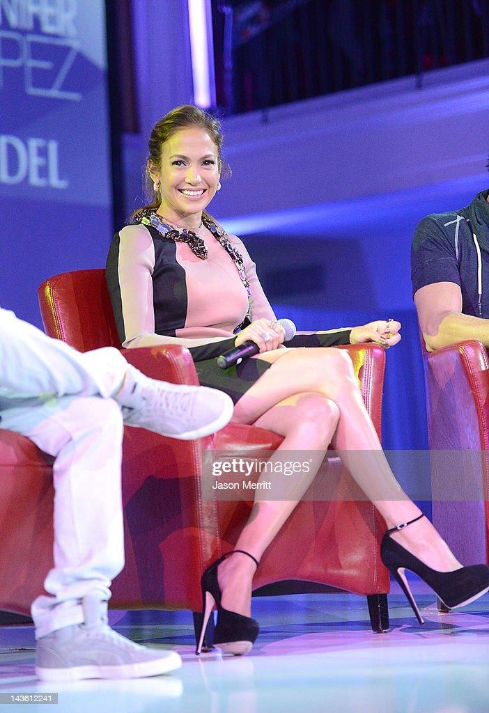 Artist Jennifer Lopez and Atlantico Rum celebrate the upcoming Enrique Iglesias Jennifer Lopez and Wisin Yandel Tour at Boulevard3 on April 30 2012...