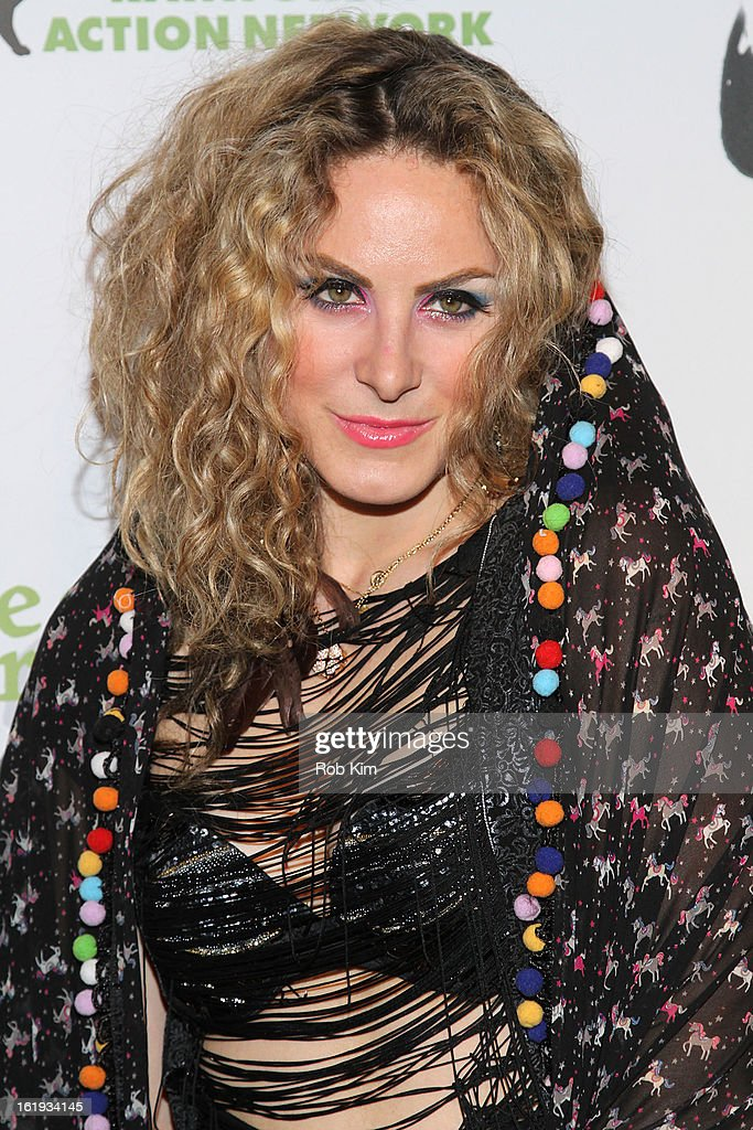 Artist Jessica Gorlicky attends The Rainforest Action Network Benefit at The Cutting Room on February 17, 2013 in New York City.