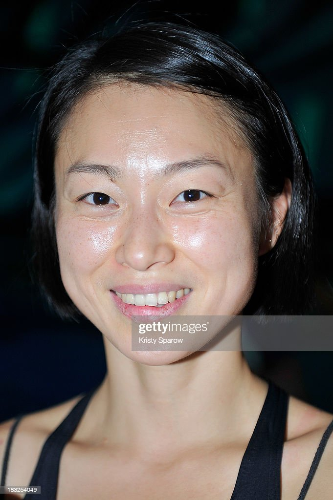 Artist Ji Yun poses during 'Medusa' her realization created for Nuit Blanche at Piscine Chateau Landon on October 5, 2013 in Paris, France.