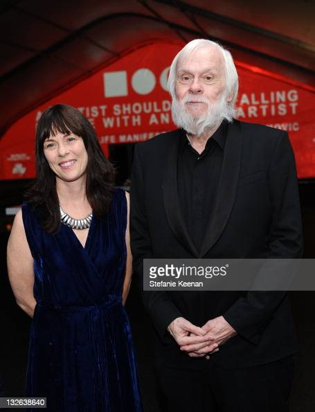 Artist John Baldessari and guest attend 2011 MOCA Gala An Artist's Life Manifesto Directed by Marina Abramovic at MOCA Grand Avenue on November 12...