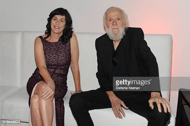 Artist John Baldessari and guest attend the 2015 MOCA Gala presented by Louis Vuitton at The Geffen Contemporary at MOCA on May 30 2015 in Los...