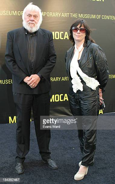 Artist John Baldessari and Meg Cranston during MOCA 2005 Fundraising Gala at MOCA in Los Angeles California United States