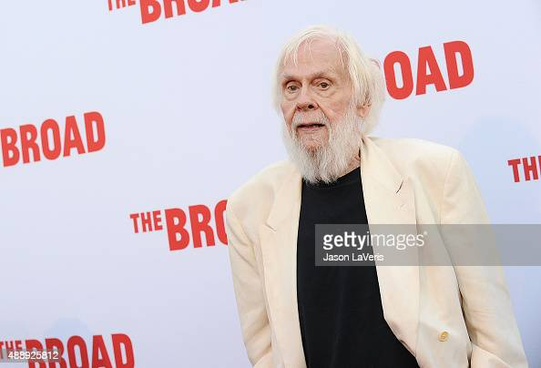 Artist John Baldessari attends the Broad Museum black tie inaugural dinner at The Broad on September 17 2015 in Los Angeles California