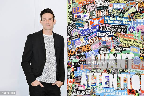 Artist Jonathan Rosen poses before the opening of his exhibition at Colette on November 25 2015 in Paris France