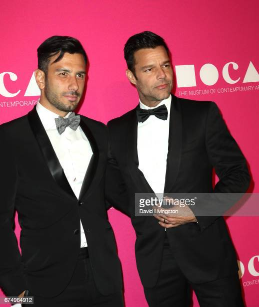 Artist Jwan Yosef and singer Ricky Martin attend the 2017 MOCA Gala at The Geffen Contemporary at MOCA on April 29 2017 in Los Angeles California