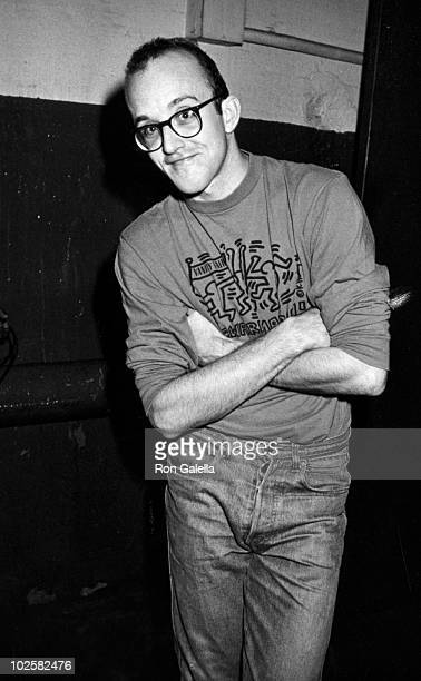 Artist Keith Haring attends Grace Jones New Year's Eve Party on December 31 1987 at Roseland Ballroom in New York City