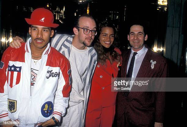 Artist Keith Haring publicist R Couri Hay and guests attend the Junior Division of the Princess Grace FoundationUSA Benefit on May 10 1988 at the...