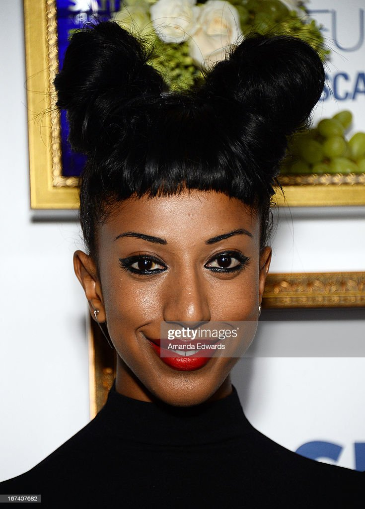 Artist Kesh arrives at the debut of The House of Moscato launch party for the new SKYY Infusions Moscato Grape Vodka at Greystone Manor Supperclub on April 24, 2013 in West Hollywood, California.