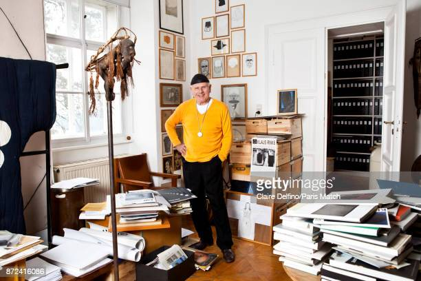 Artist Klaus Rinke is photographed for Paris Match on September 26 2017 in Linz Austria