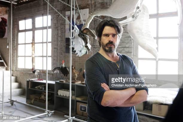 107623004 Artist Koen Vanmechelen is photographed for Madame Figaro on September 13 2013 in Hasselt Belgium PUBLISHED IMAGE CREDIT MUST READ...