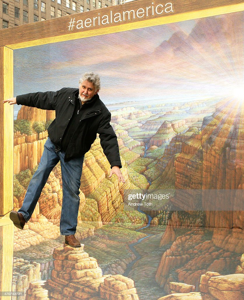 Artist <a gi-track='captionPersonalityLinkClicked' href=/galleries/search?phrase=Kurt+Wenner&family=editorial&specificpeople=4571361 ng-click='$event.stopPropagation()'>Kurt Wenner</a> attends the Grand Canyon comes to Times Square in 3-D presented by Smithsonian ChannelÕs Aerial America at Times Square on February 20, 2014 in New York City.