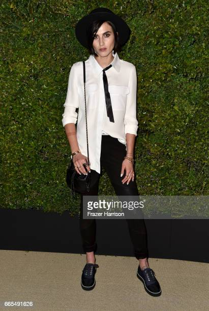 Artist Langley Fox attends the celebration of Chanel's Gabrielle Bag hosted by Caroline De Maigret and Pharrell Williams at Giorgio Baldi on April 6...