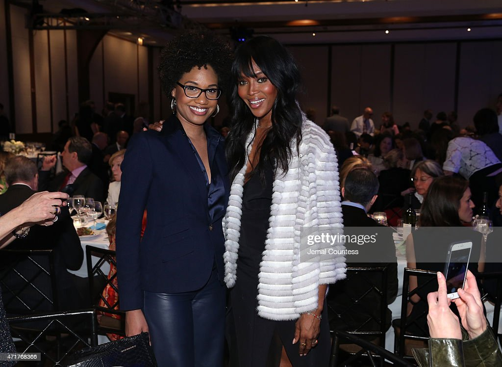Artist LaToya Ruby Frazier (L) and Naomi Campbell attend the International Center of Photography 31st annual Infinity Awards at Pier Sixty at Chelsea Piers on April 30, 2015 in New York City.