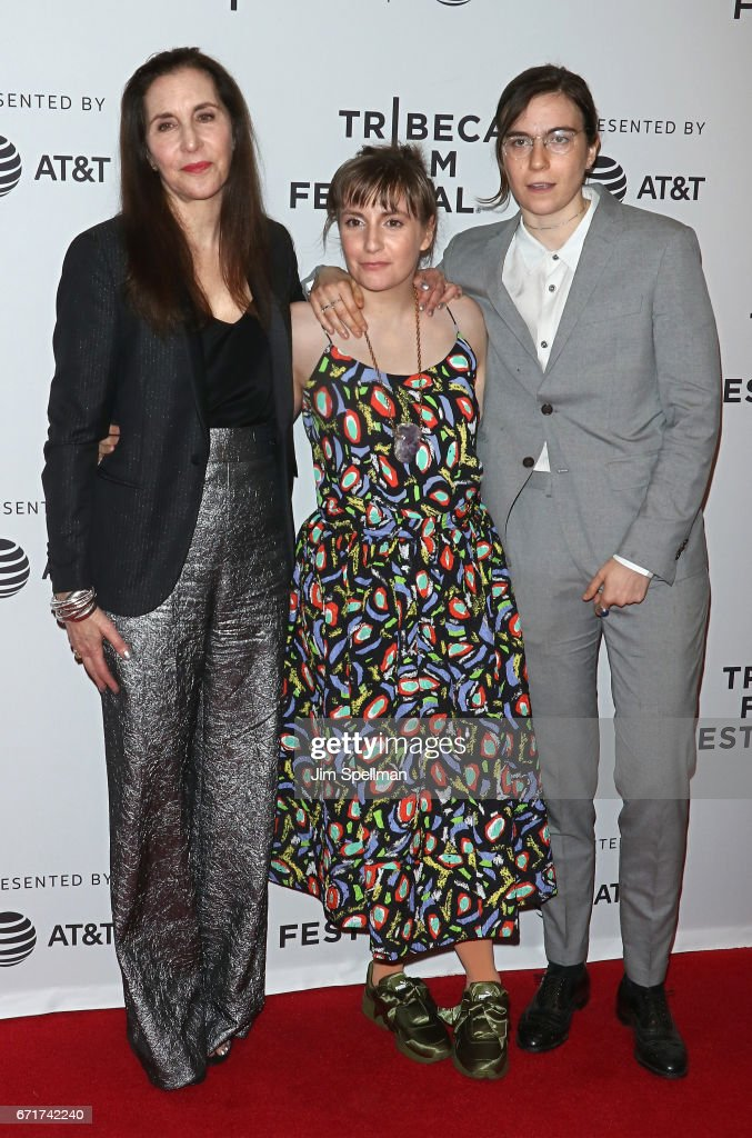 Artist Laurie Simmons, actress Lena Dunham and writer Grace Dunham attend the 'My Art' screening during the 2017 Tribeca Film Festival at Cinepolis Chelsea on April 22, 2017 in New York City.