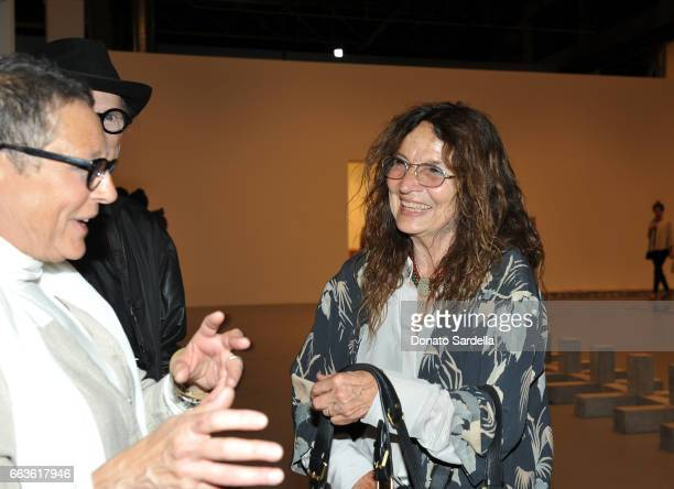 Artist Lita Albuquerque attends MOCA's Leadership Circle and Members' Opening of 'Carl Andre Sculpture as Place 19582010' and 'Arthur Jafa Love Is...