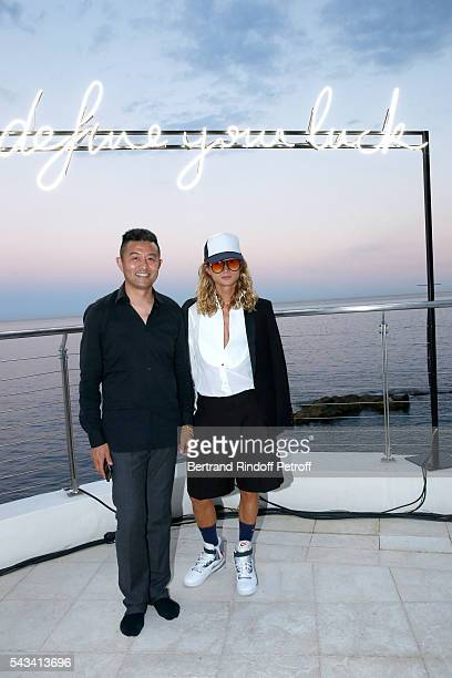 Artist Liu Bolin and The Kid attend Fred Jeweler Celebrates 80 Years of Creation at Hotel Cap Estel in Eze France on June 23 2016