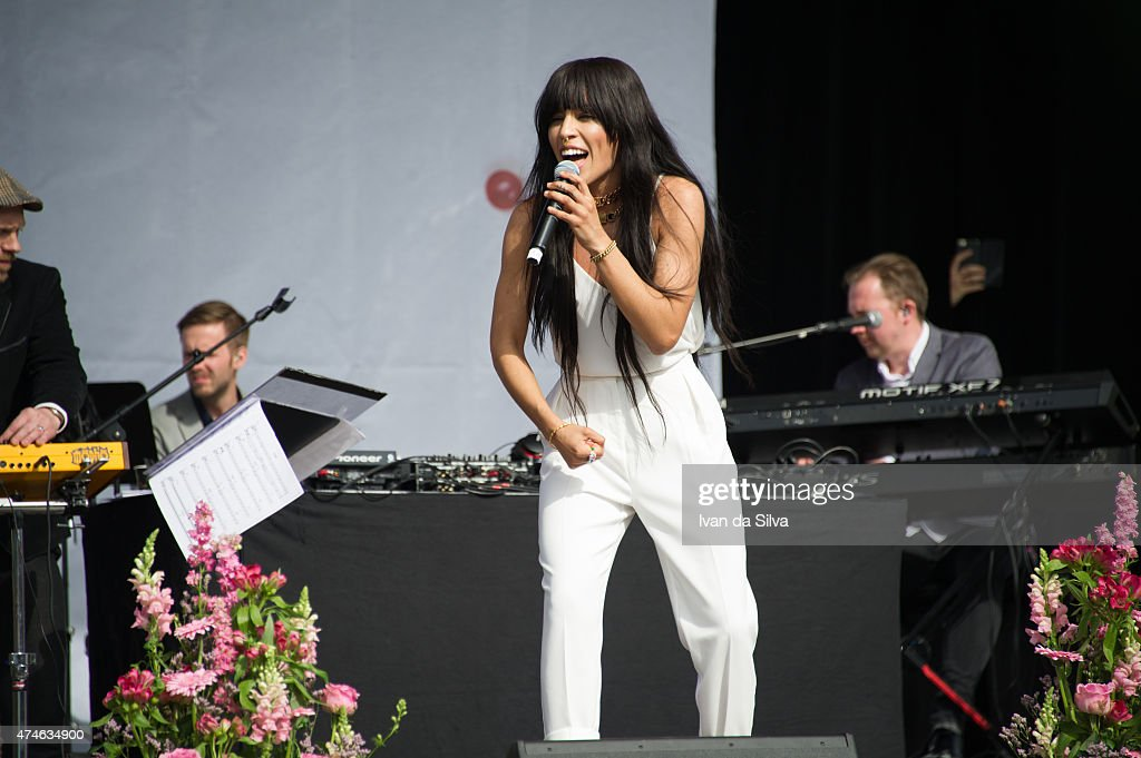 Artist Loreen attends the Childhood day at Djurgarden on May 24, 2015 in Stockholm, Sweden. (Photo by Ivan Da Silva/Getty Images).