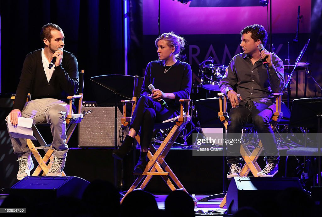 Artist manager Ryan Chisholm, Chromatik Senior VP of Business Development Avital Ferd and The Creed Company General Manager Rob Bonstein attend GRAMMY Camp Basic Training at USC Thornton School of Music on February 6, 2013 in Los Angeles, California.