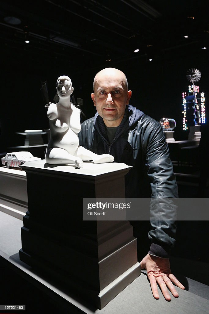 Artist Marc Quinn poses with a maquette for his Fourth Plinth proposal entitled 'Alison Lapper Pregnant' which features in the exhibition 'Fourth Plinth: Contemporary Monument' at the ICA on December 4, 2012 in London, England. The exhibition at the Institute of Contemporary Arts features maquettes by artists including Tracy Emin, Antony Gormley, Anish Kapoor, it opens tomorrow and runs until January 20, 2013.